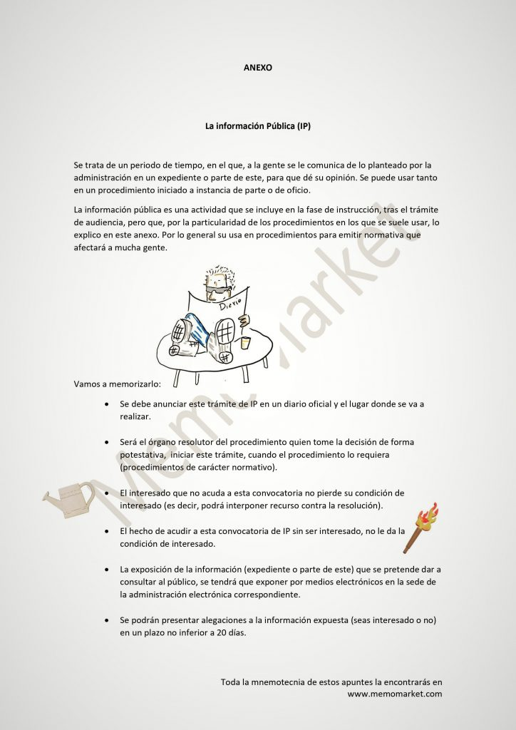 Procedimiento administrativo artículo 83 información pública